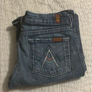 EUC 7 FOR ALL MANKIND COLORS A-POCKET JEANS 25